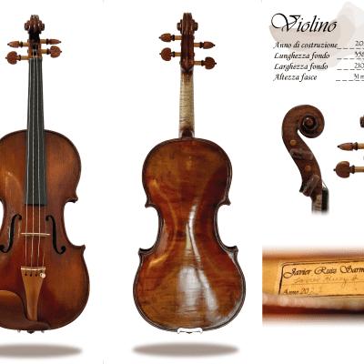 Italian Violin Stradivari model 2021  handmade in Parma Professional with certificate - video