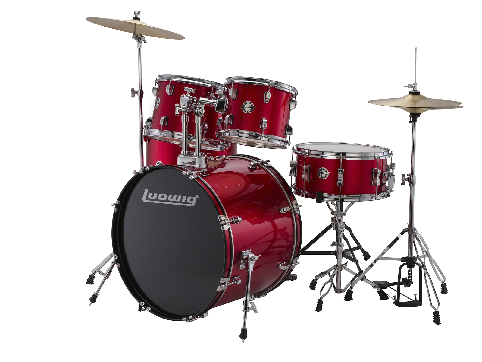 Ludwig LC170 5pc. Accent Fuse Complete Drum Kit - Red 2019