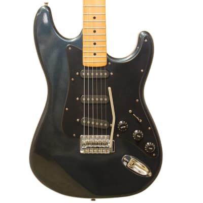 Kay K3 Strat Style Electric Guitar in Gun Metal Blue for sale