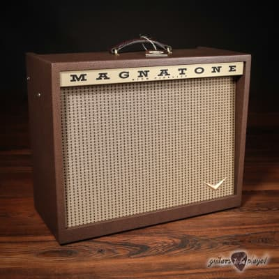 """Magnatone Varsity Reverb 15W 1x12"""" Combo Amp w/ Footswitch & Cover for sale"""