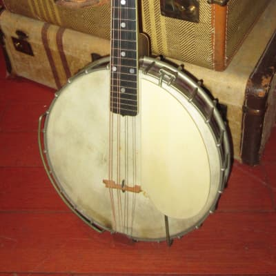 Vintage 1924 Gibson MB-4 Mandolin Banjo Trapdoor White / Sunburst for sale