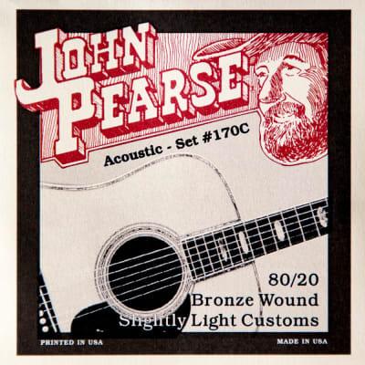 John Pearse 170C 80/20 Bronze Slightly Light 11-52 Acoustic Strings