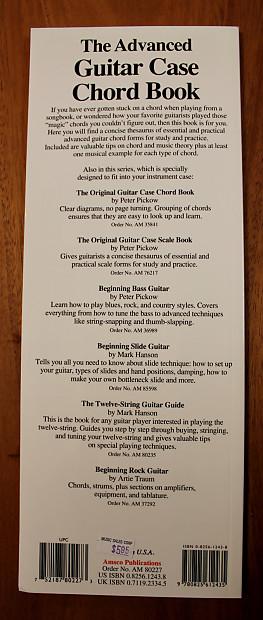 The Advanced Guitar Case Chord Book Instructional Book Reverb