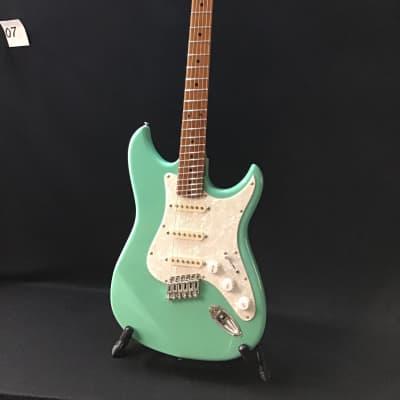 Emerald Bay  Electric guitar Fan fret (multi-scale) roasted maple neck for sale