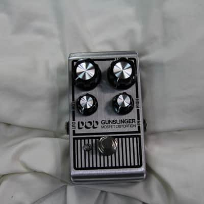 DOD DOD Gunslinger Mosfet Distortion Out Of Box For Photos Only Silver for sale