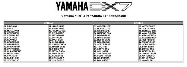 yamaha dx7 vrc