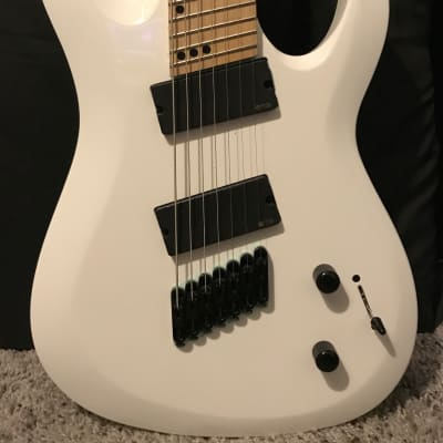 Harley Benton R-457 EMG 707s Fanfret White Multiscale Locking Tuners for sale