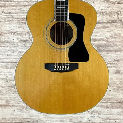 1996 Guild JF55-12 Jumbo Acoustic Guitar w/ OHSC Natural Free Shipping for sale
