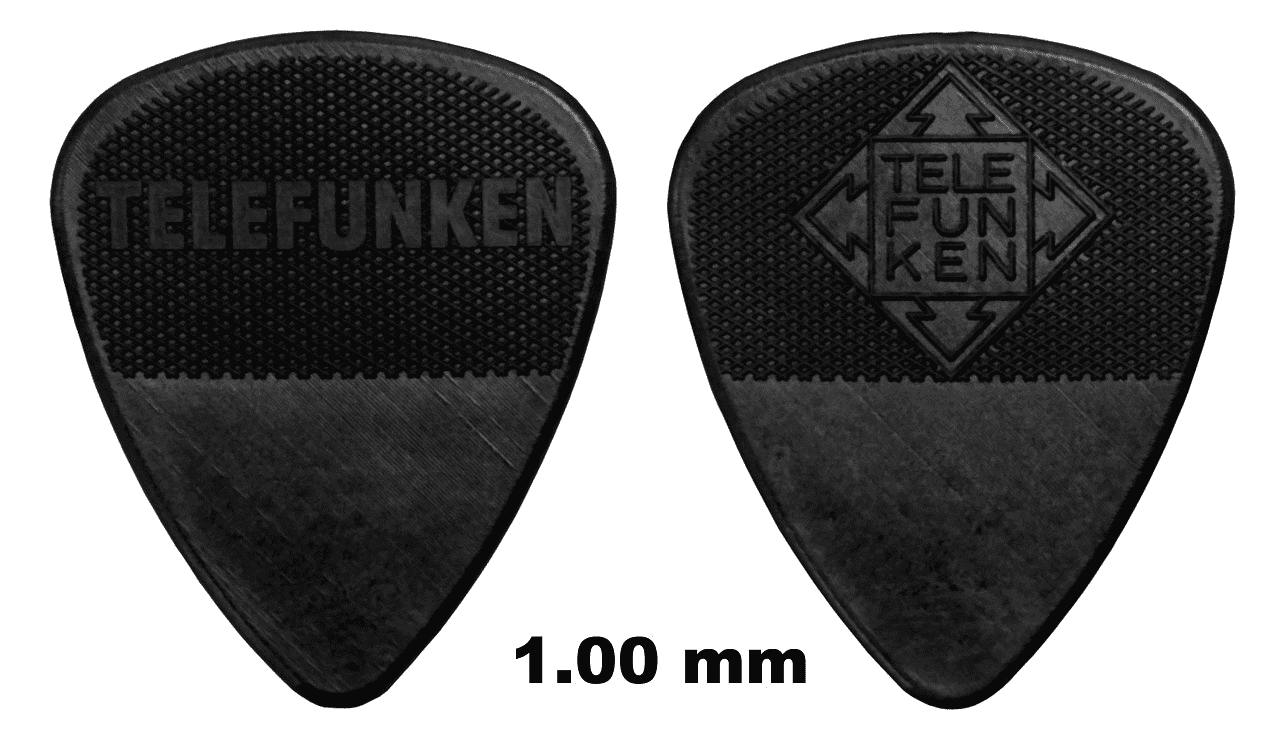 6 Pack Telefunken Graphite Amp Delrin Guitar Picks Reverb