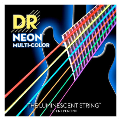 DR Strings NEON Multi-Color Electric Guitar Strings, 10-46, NMCE-10