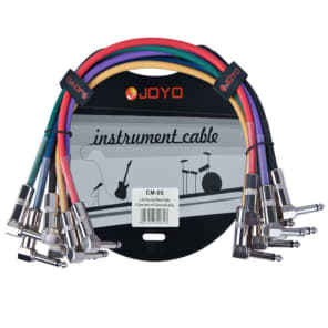 Joyo CM-05 Guitar Patch Cables - 1.2' (6-Pack)