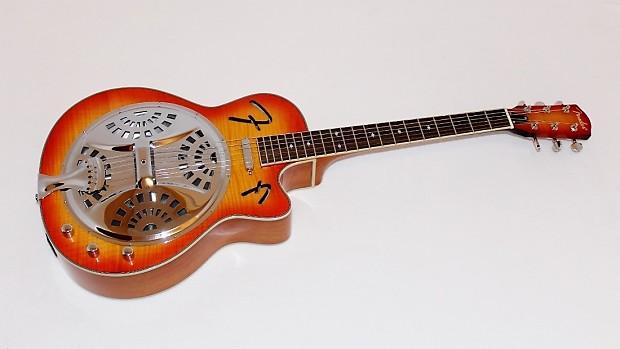 fender fr50ce cutaway acoustic electric resonator guitar w reverb. Black Bedroom Furniture Sets. Home Design Ideas