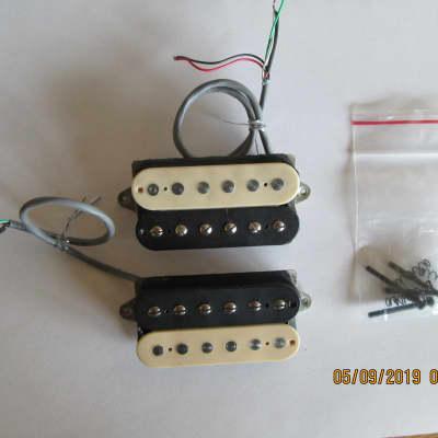 humbucker/split single coil 4-wire bridge & neck pickup set