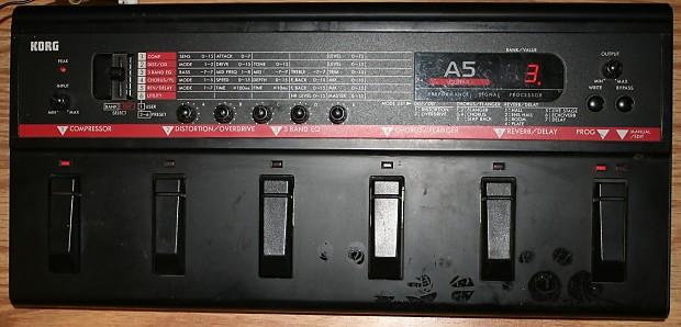 Korg A5 Multi Effects Guitar Processor W Power Supply