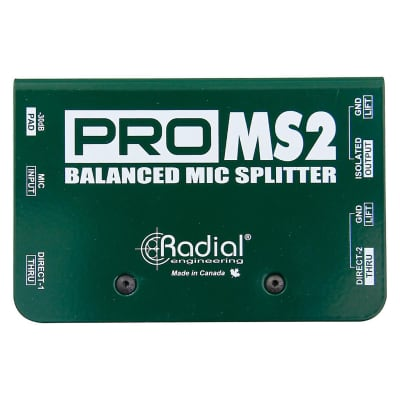 Radial ProMS2 Passive Microphone Spliter with Eclipse ETMS10 Transformer and Switchable Pad on Input