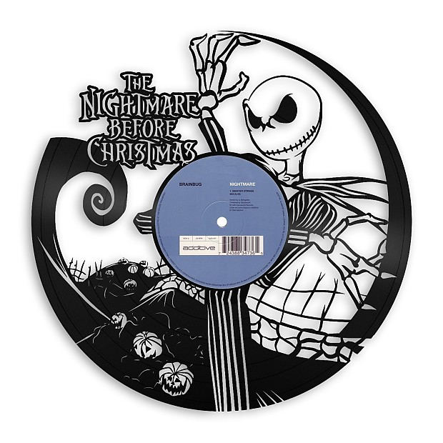 Nightmare Before Christmas Vinyl Wall Art - Beige / Framed | Reverb