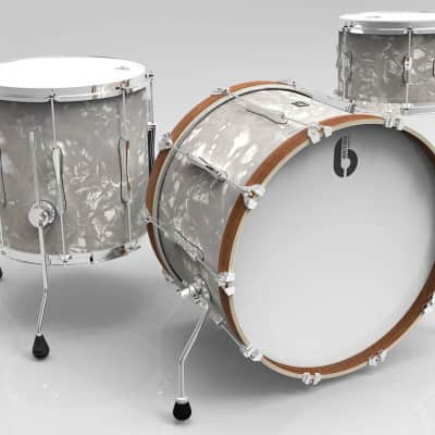 British Drum Company Lounge Series Club 3pc Drum Set 12/16/22 - Windermere Pearl
