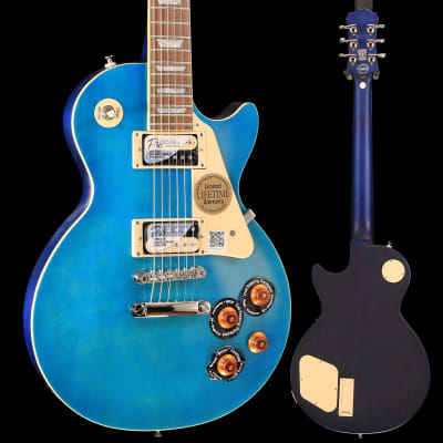 Epiphone ENT2OBSNH3 Ltd Ed Les Paul Traditional PRO-II Ocean Blue S/N 18021505879 8lbs 6.8oz for sale