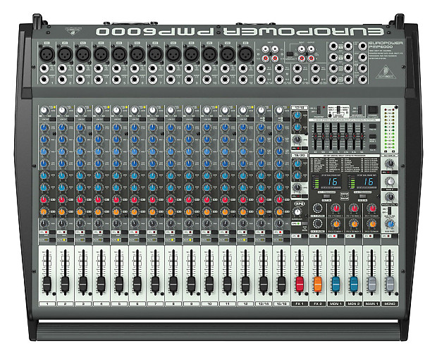 behringer pmp6000 20 channel powered mixer 1600 watts used reverb. Black Bedroom Furniture Sets. Home Design Ideas