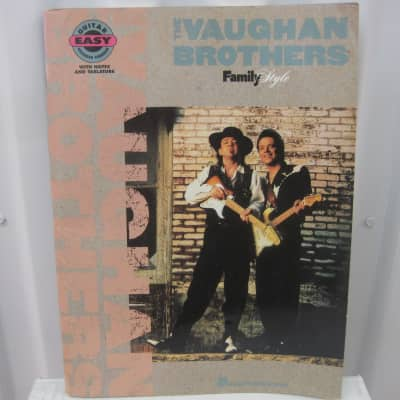 The Vaughan Brothers Family Style Sheet Music Song Book Songbook Easy Guitar Tab Tablature