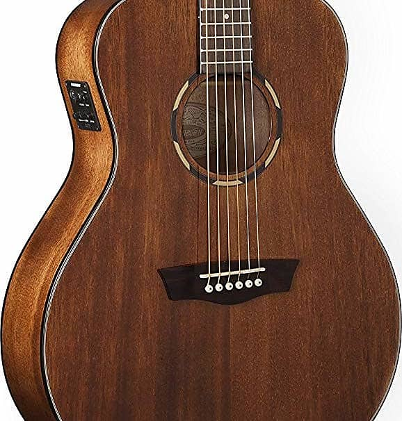 Washburn Woodline O12SE Orchestra Acoustic Electric Guitar Natural