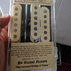 Rio Grande Dual Calibrated Strat Pickups Set Stratocaster Vintage White Cream Muy Half Breed Tall Boy