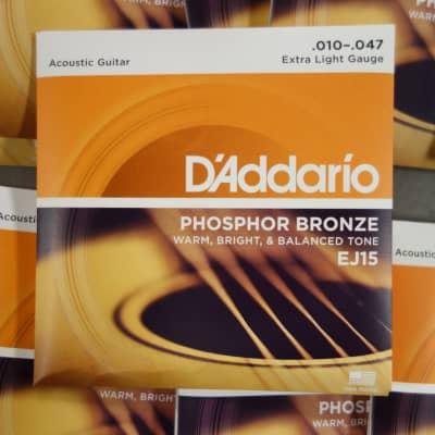 D'Addario EJ15 Extra Light 10-47 Phoshor Bronze (10 sets)