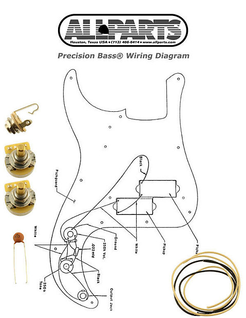 new precision bass pots wire wiring kit for fender p reverb. Black Bedroom Furniture Sets. Home Design Ideas