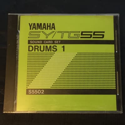 Yamaha Drums 1 Sound Card Set for SY55 / TG55 1990