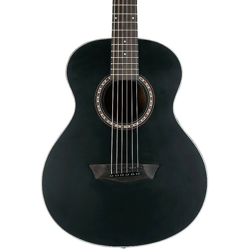 Washburn Apprentice AGM5BMK G-Mini 5 Acoustic Guitar Matte Black w/ Gig Bag