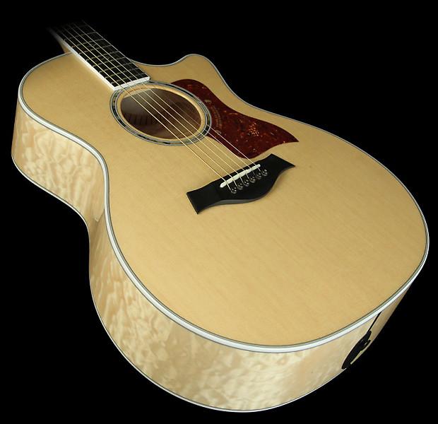 taylor 614ce quilt maple grand auditorium acoustic electric reverb. Black Bedroom Furniture Sets. Home Design Ideas