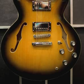 Palermo Shelby 2018 Heritage Custom Shop 2 Tone Sunburst  Semi-Hollow Thinline  W/ Gibson 335 Case for sale