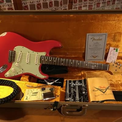 Fender Custom Shop '60 Reissue Stratocaster 2013 Relic Fiesta Red - Josephina Pick Ups for sale