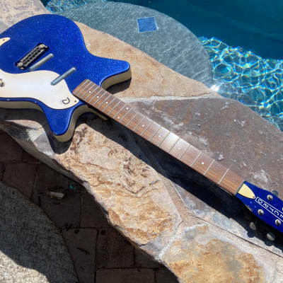 Danelectro  '59M™ NOS+ Metalflake Blue 60th anniversary Aged By Real Life Relics