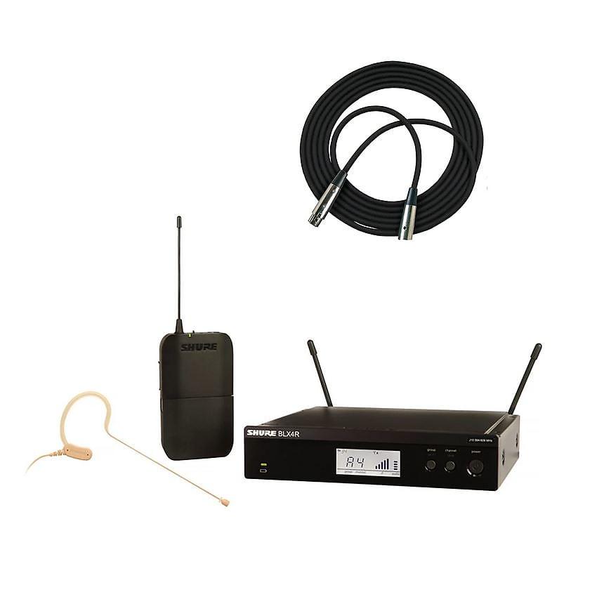 Shure BLX14R/MX53 Headworn Wireless System w/ MX153 Earset Microphone (H10 Freq.)
