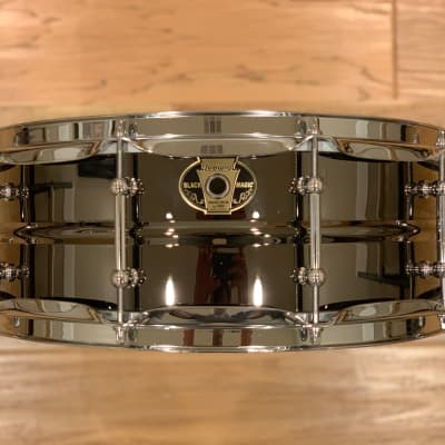 "Ludwig LW5514C Black Magic 5.5x14"" Brass Snare Drum with Chrome Hardware"