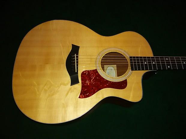 Taylor 114ce 2013 Natural Satin | Tom's Guitars | Reverb