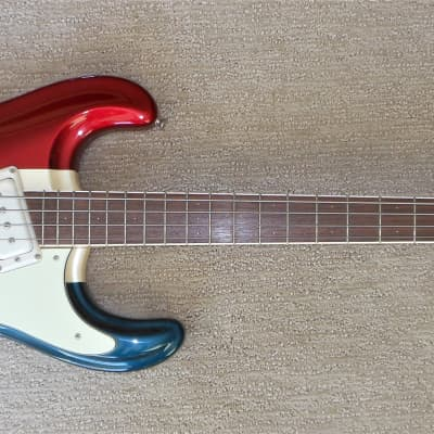 Mosrite Ranger Bass - Red White & Blue - Salesman Model? One Off? Dana Mosely Signed Pickup - RARE for sale