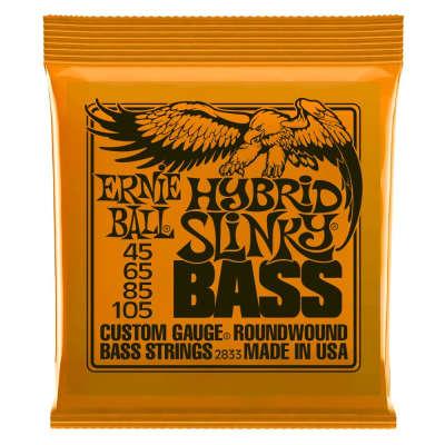 Ernie Ball 2833 Hybrid Slinky 4-String Bass Set, 45-105