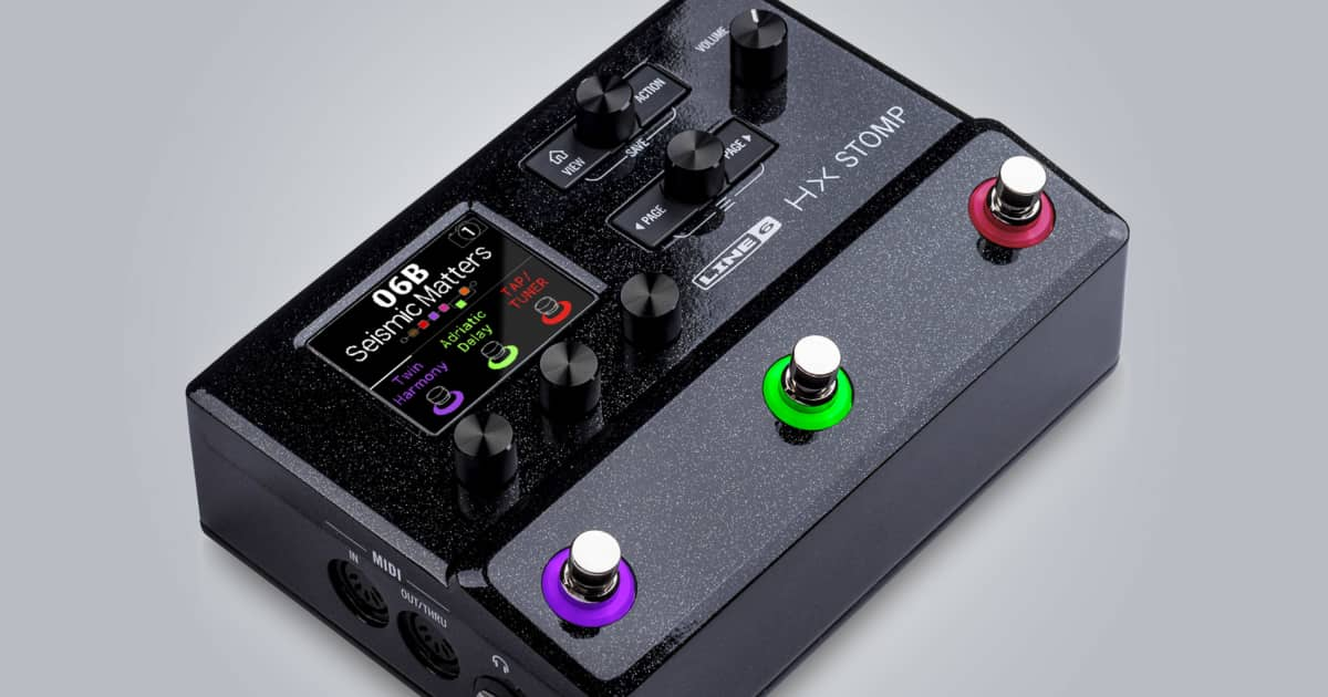 Line 6 Releases The Hx Stomp Reverb News