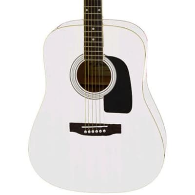 Aria AW-15 Dreadnought Acoustic Guitar in White Pearl for sale