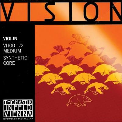 Thomastik-Infeld VI100 Vision Synthetic Core 1/2 Violin String Set - (Medium)