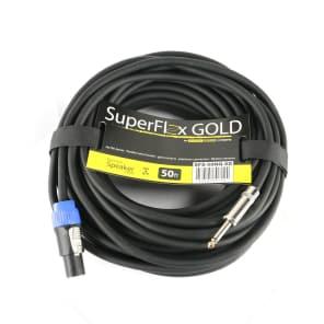 "SuperFlex GOLD SFS-50NQ-SD 16-Gauge Twist Lock to 1/4"" Speaker Cable - 50'"