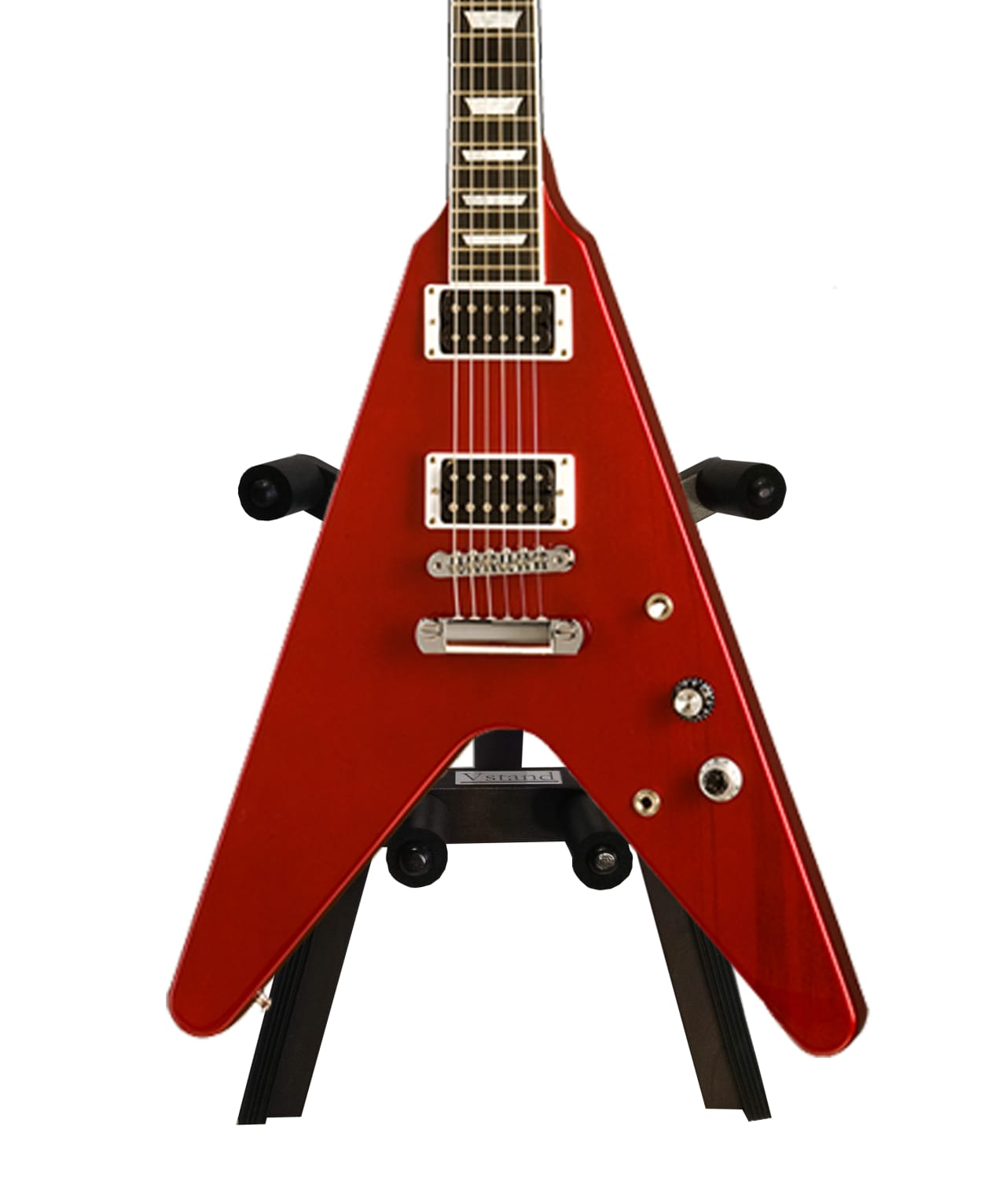 flying v universal guitar stand solid mahogany vstand reverb. Black Bedroom Furniture Sets. Home Design Ideas