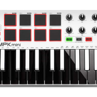 Akai Limited Edition MPK Mini MKII (White) Compact Keyboard and Pad Controller