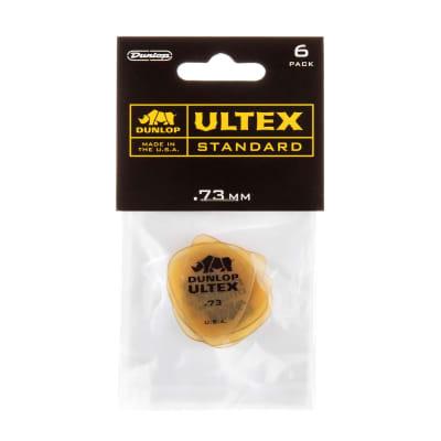 Dunlop .73 Yellow Ultex Standard Picks 6 Pack