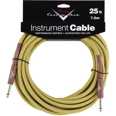 Fender Custom Shop Performance Series Instrument Cable (25ft 7.5M, Tweed) for sale