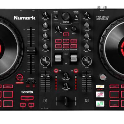 Numark Mixtrack Platinum FX 4-Deck Serato DJ Controller FREE SHIPPING! 2021 Black