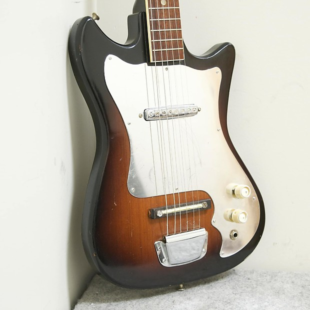 lindell teisco electric guitar 1960s 2 color sunburst reverb. Black Bedroom Furniture Sets. Home Design Ideas