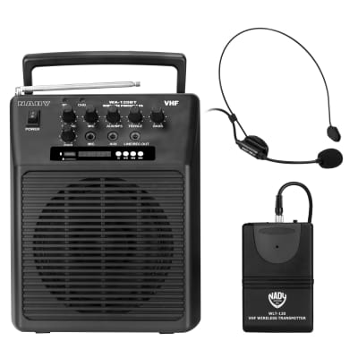 Nady WA-120BT HM3 Portable Bluetooth Wireless PA System with Headset Microphone